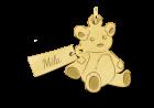 Gouden beer hangertje om te graveren
