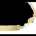 Gouden kinder/peuter graveer naamplaat armbandje met hartje 11-13 cm
