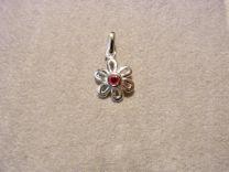 Edelweiss hangertje van zilver met open blaadjes