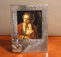 Zilveren fotolijst met Beertje