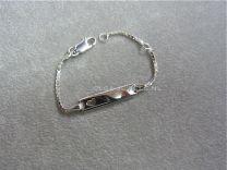 Plaat armbandje baby met hartje 10 tot 12 cm.