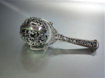 Oud Hollands draaibare bol, zilveren rammelaar.