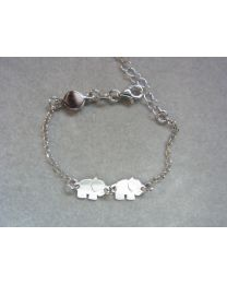 Zilveren kinderarmband met olifant