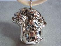 Zilveren rammelaar eekhoorn aan ring