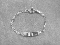 Plaat armbandje baby figaro schakeltje met hartje