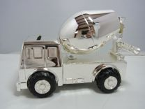 Verzilverde spaarpot Cement auto