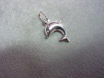 Dolfijn, zilveren bedel.
