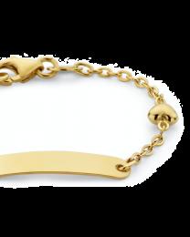 9 krt kinder naamplaat armband